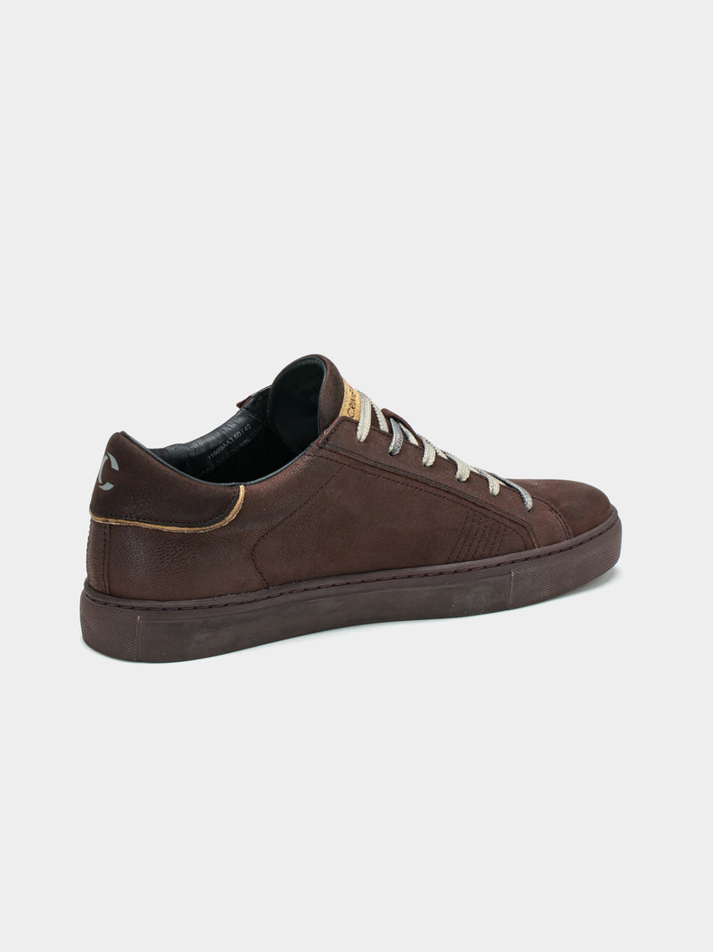 Sneaker in pelle marrone
