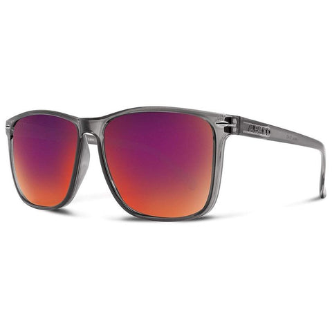 Jesse Sunglasses Crystal Grey Frame Sunset Lenses