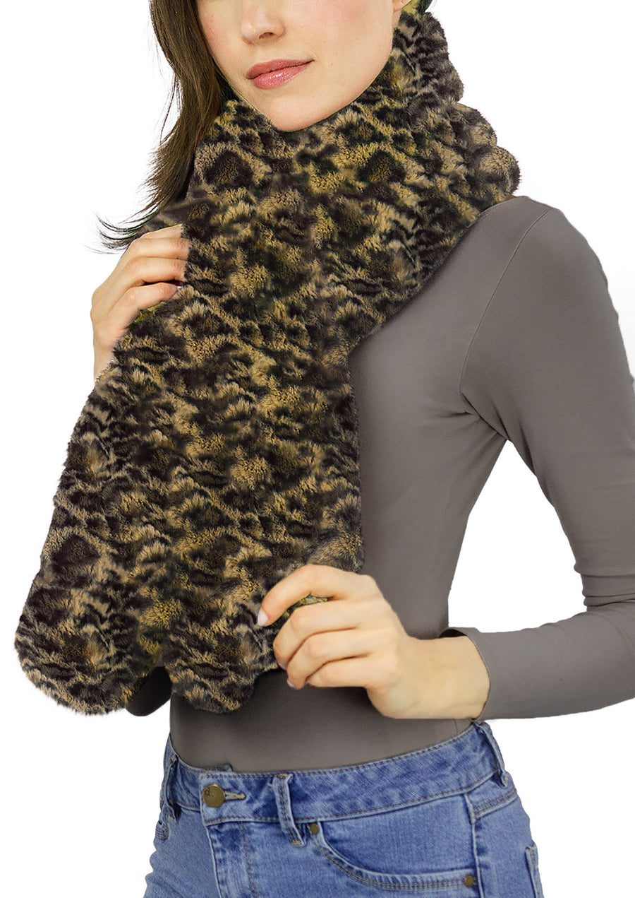 Faux Mink Pull Through Scarf