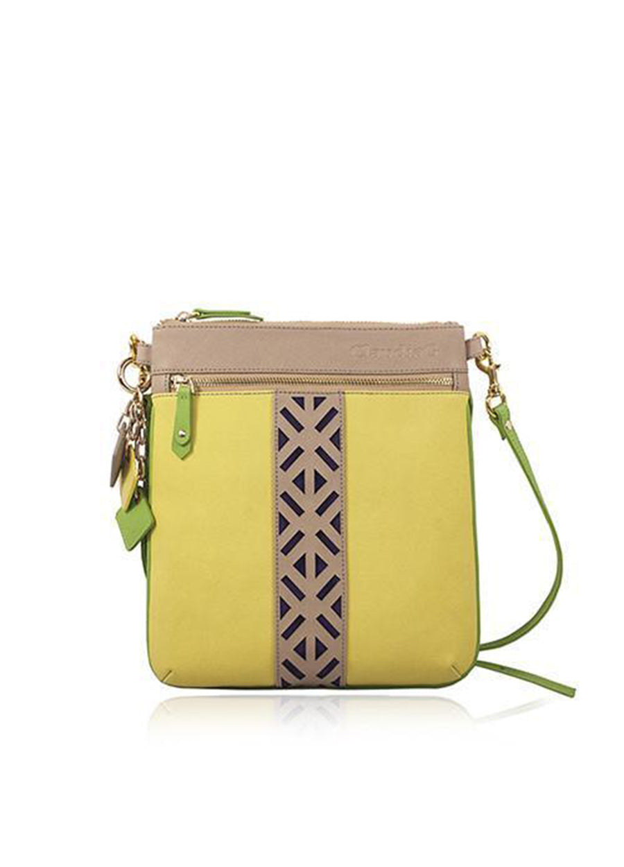 Lily Leather Crossbody Sea Salt White / Watermelon