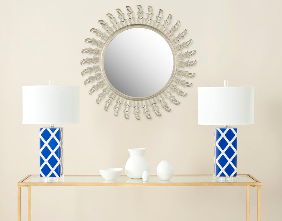 Safavieh Nicholas Pewter Wood & Glass Mirror