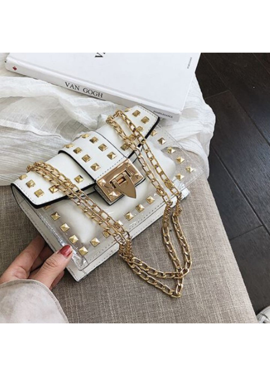 Betty Shoulder Bag Clear / White