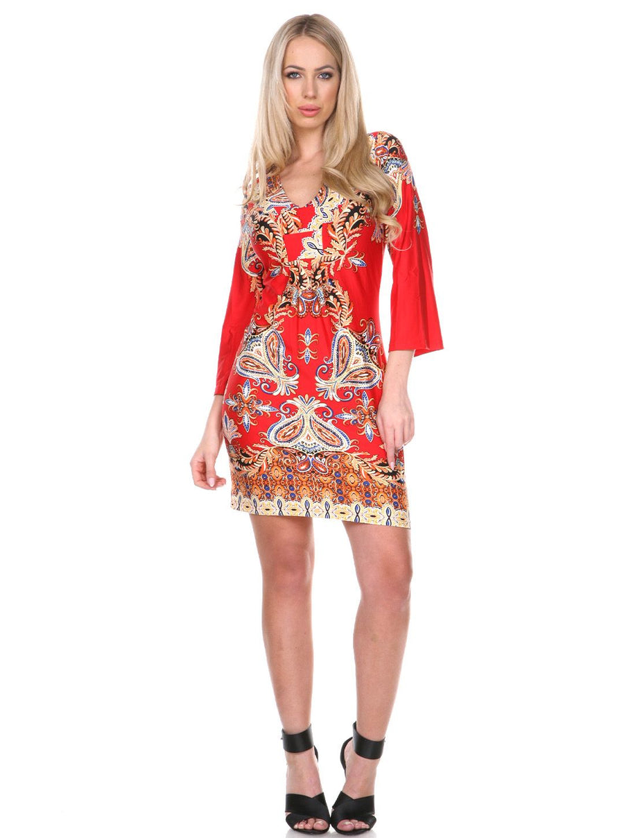 Madelyn Dress Red / Gold