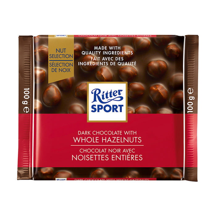 RITTER SPORT CHOCOLATE AND HAZELNUT 100G