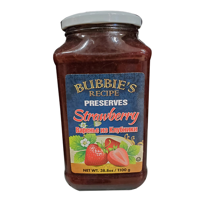BUBBIE'S RECEIPT PRESERVES 1110G  STRAWBERRY PRESERVE