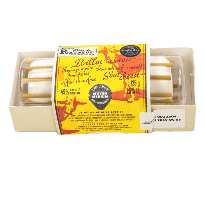 ALEXIS DE PORTNEUF PAILLOT 125G CHEESE GOAT SEMI-SOFT