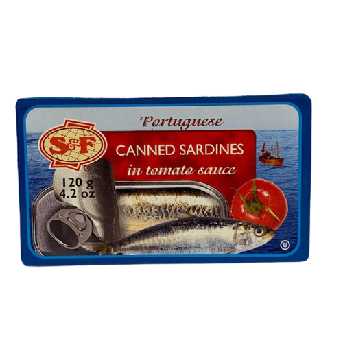 S&F CANNED SARDINES IN TOMATO SAUCE 120G