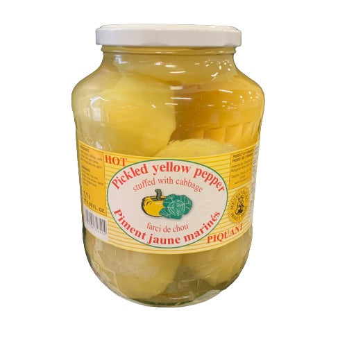 HONEY BEAR HOT PICKLED YELLOW PEPPER 1.7L