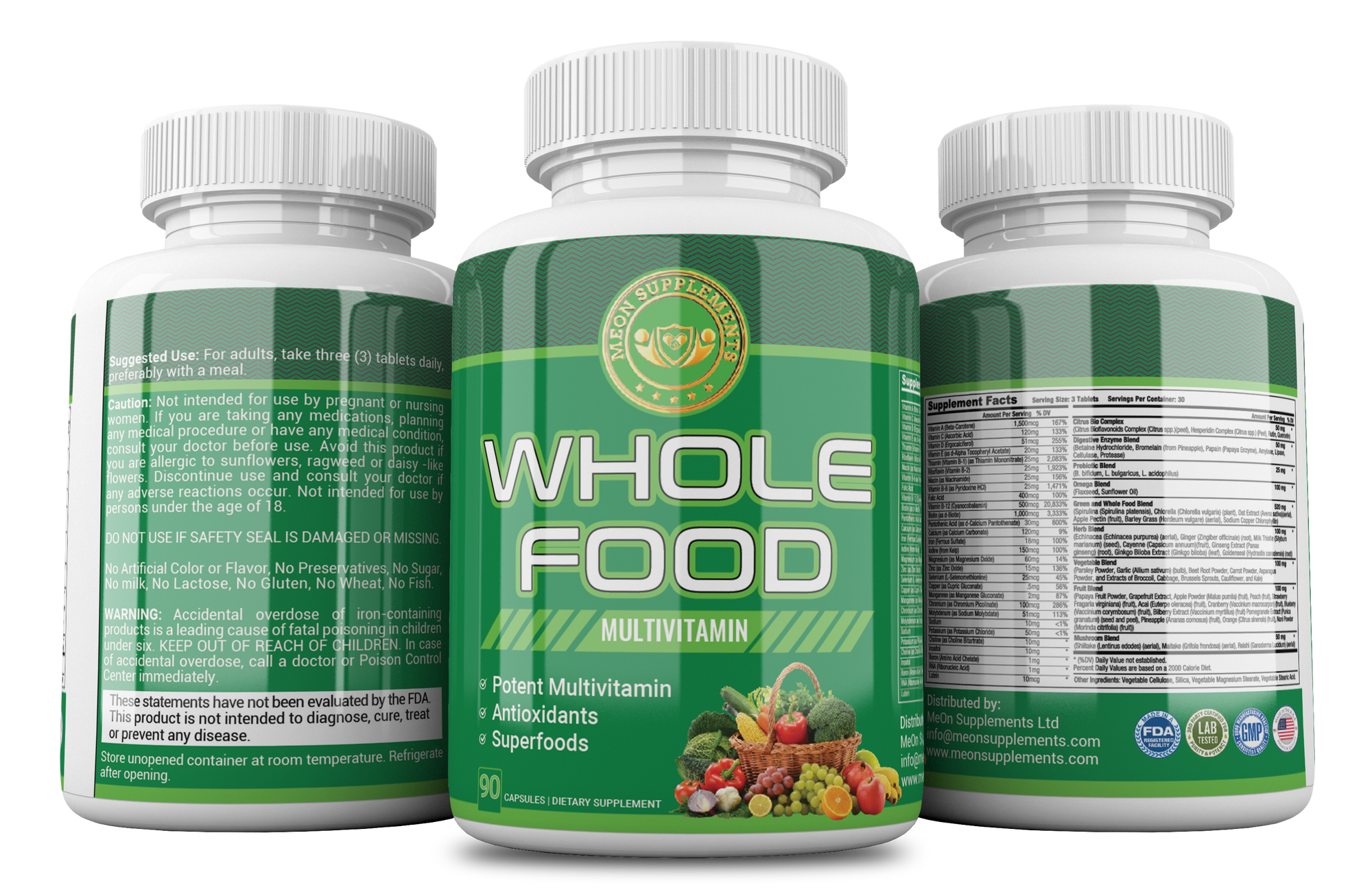 Whole Food Multivitamin - MEON Supplements