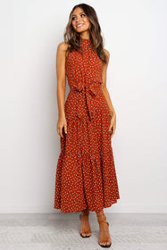 Adaline Dress - Rust