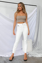 BOTTOMS **Tanesha Jeans - White CAMPAIGN FEB [US 08/03]