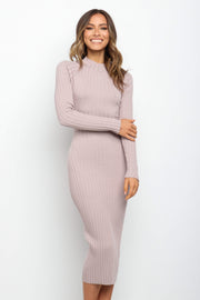 DRESSES ***Briellen Dress - Beige (COLOUR MAUVE?)