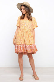 DRESSES ***Febe Dress - Orange (DESCRIPTION)