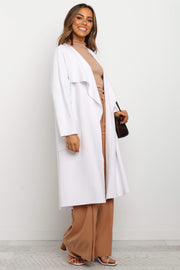 OUTERWEAR Elura Coatigan - White