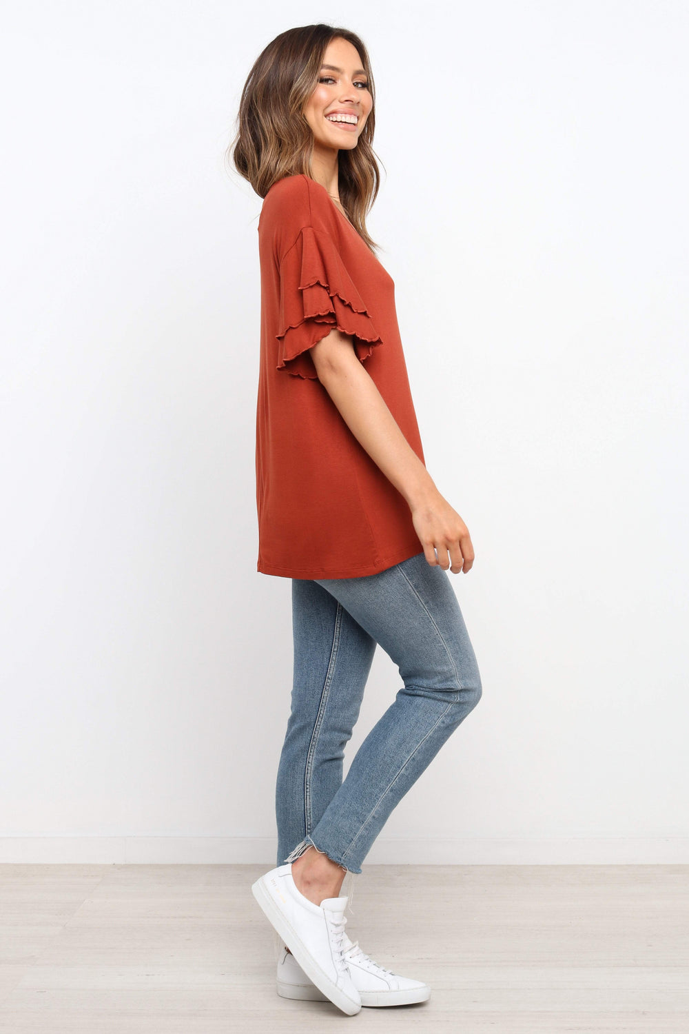 TOPS ***Searcy Top - Rust (RRP $39.95)