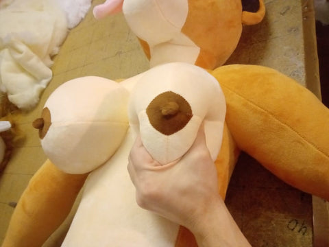 Kinky Plush Furry Love Doll The Lioness brown nipples