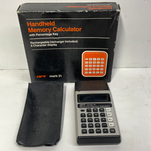 Load image into Gallery viewer, APF Mark 21 vintage calculator. Handheld memory calculator