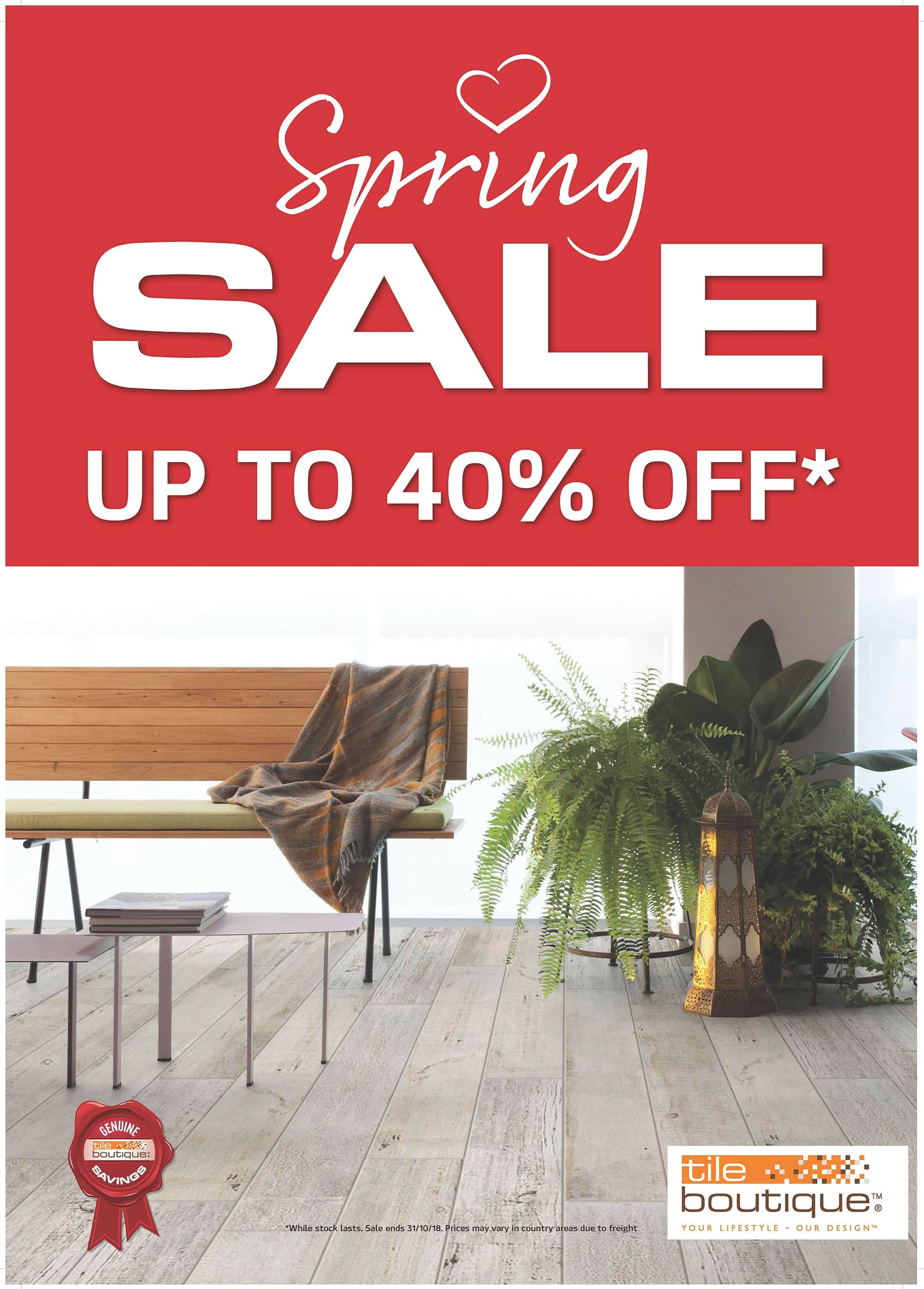 Spring Sale ON Now