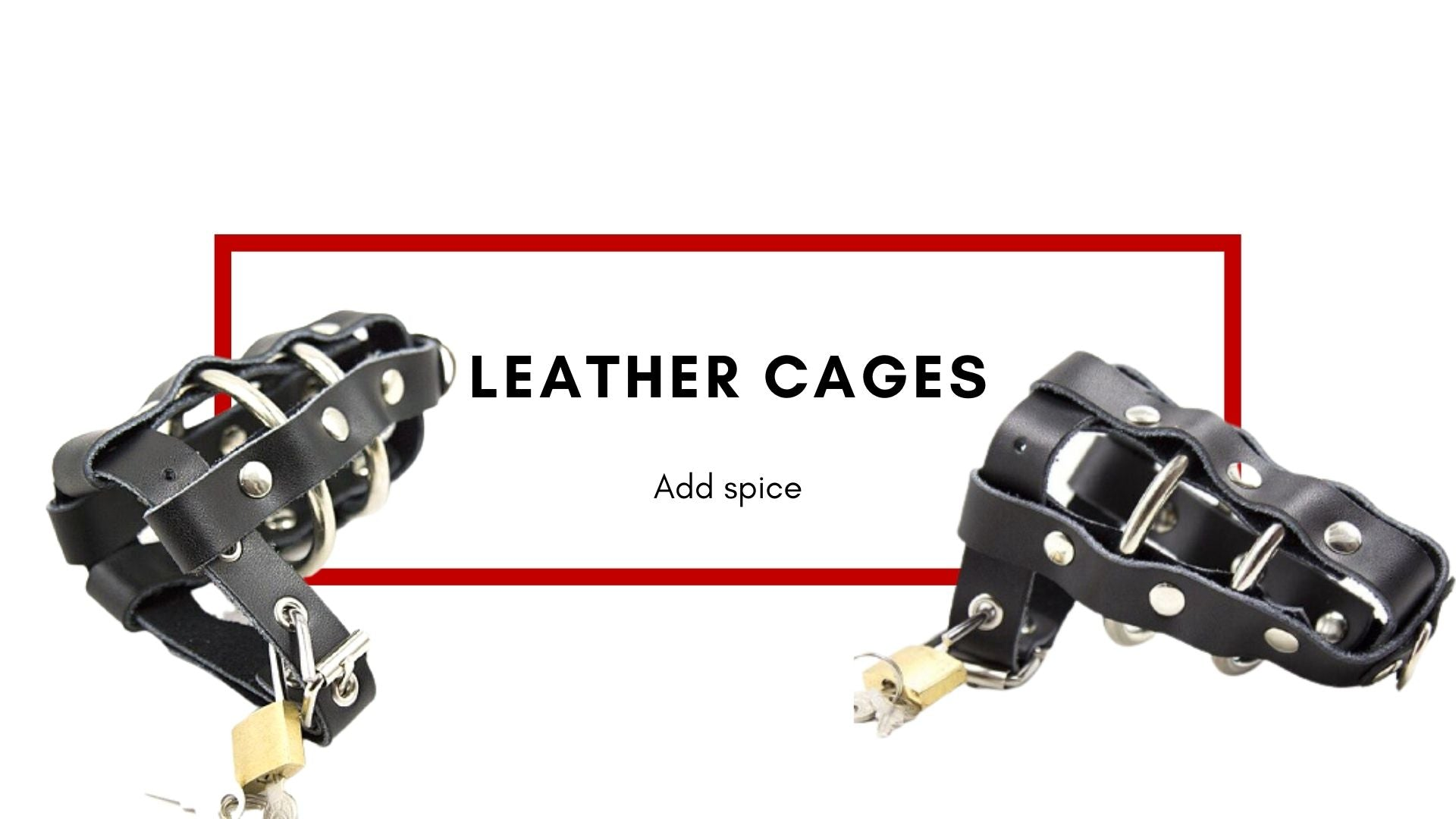leather cock cage