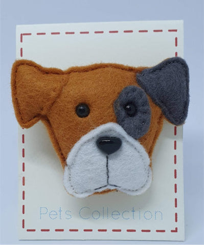 Felt Doggy Brooch - by Lucy Jackson