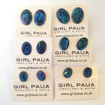 Copy of Blue Paua Shell  Earrings - by Mhairi Sim - Girl Paua