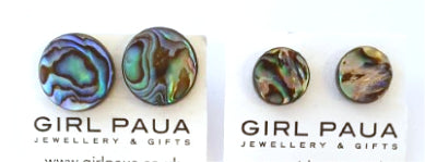 Paua Shell Stud Earrings - by Mhairi Sim - Girl Paua