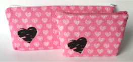 Heart Purse or Make-up bag- by Lucy Jackson