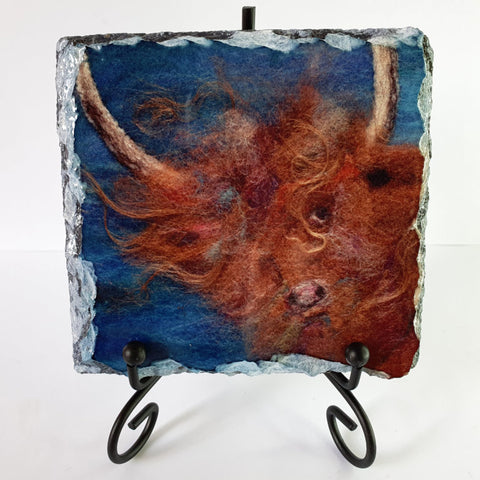 Highland Cow on Slate - by Lynne McGill - LinPin