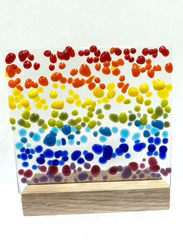 Rainbows and Magical Glass on Stands - by Kate Doherty - Mauralen Glass