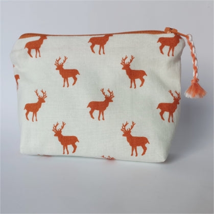 Orange Stag Purse - by Lucy Jackson
