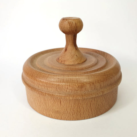 Dish with Lid Beech - by John Hamilton
