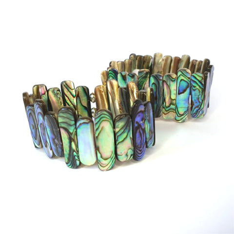 Paua Shell Long Strips Bracelet - by Mhairi Sim - Girl Paua