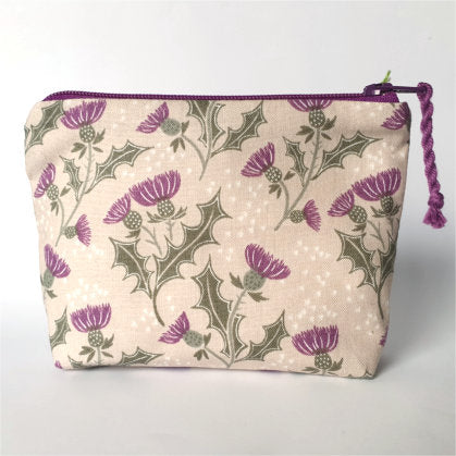 Cotton Thistle Purse - by Lucy Jackson