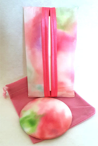 tissue holder and mirror set