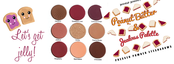 Our classic best seller Peanut Butter and Jealous palette is back in stock! Perfect everyday complete face palette perfect for traveling.