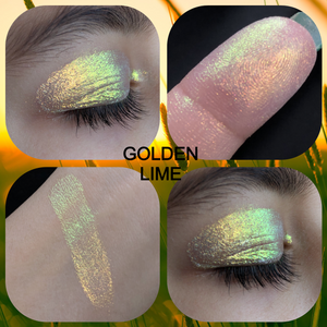 "Multichrome Loose Pigment ""Golden Lime"" (Candy Chrome Series)"