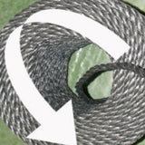 How To Open A Coil Of Polypropylene Rope Showing Left Hand Arrow Left