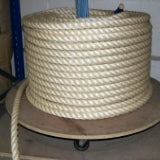 Large Coil Of Sisal 28mm Rope On Rope Spinner