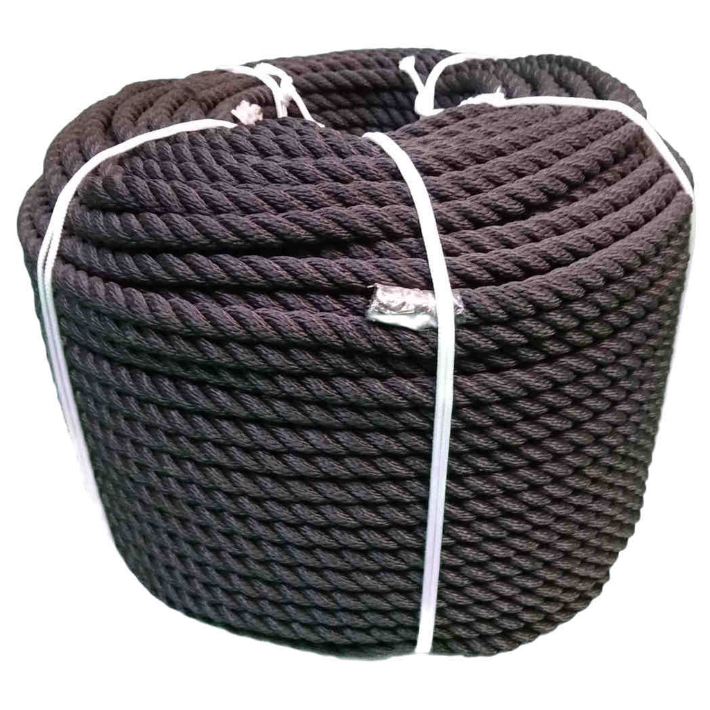 Coil Of Black Softline Mooring Rope 220M