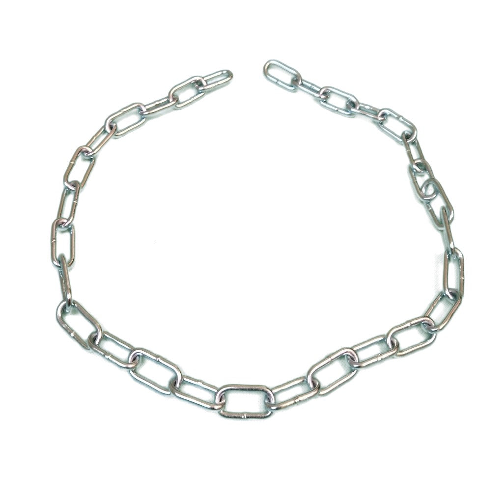 One Metre Of Zinc Plated 5mm Long Link Chain For Attaching Canal Boat Fenders