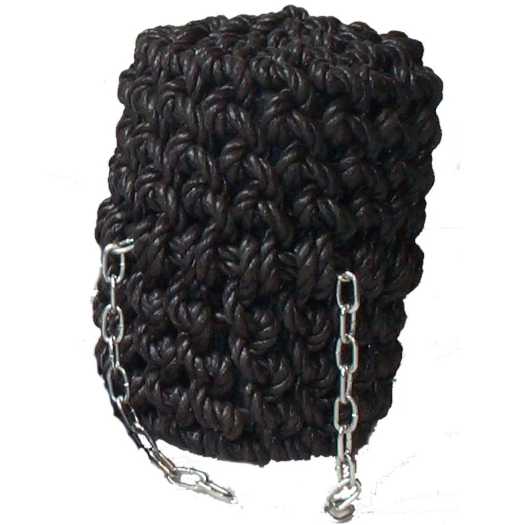 Black Long Button Rope Fender for Canal Narrowboat