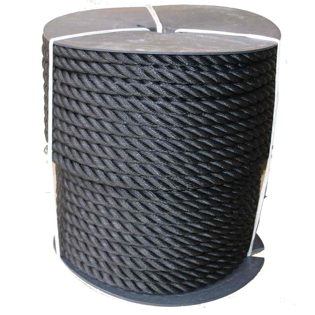 Reel Of Canal Boat Mooring Rope On a Plastic Drum 110M Length