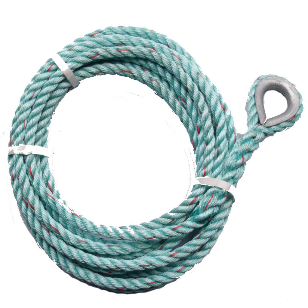 Anchor Rope For Canal Narrowboat Ten Metres With Steel Thimble