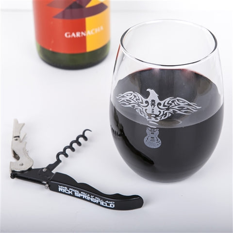 RS Logo Wine Glass