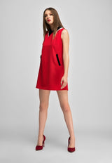 Lack Boder Sundress -Red