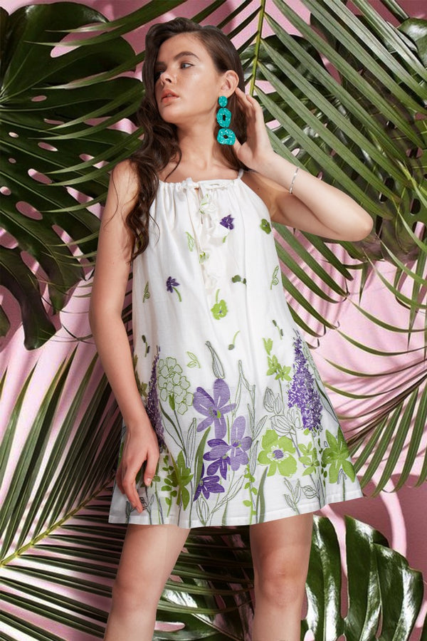 Cotton Camisole Dress  - Flower