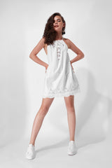 Cotton Camisole Dress  - White