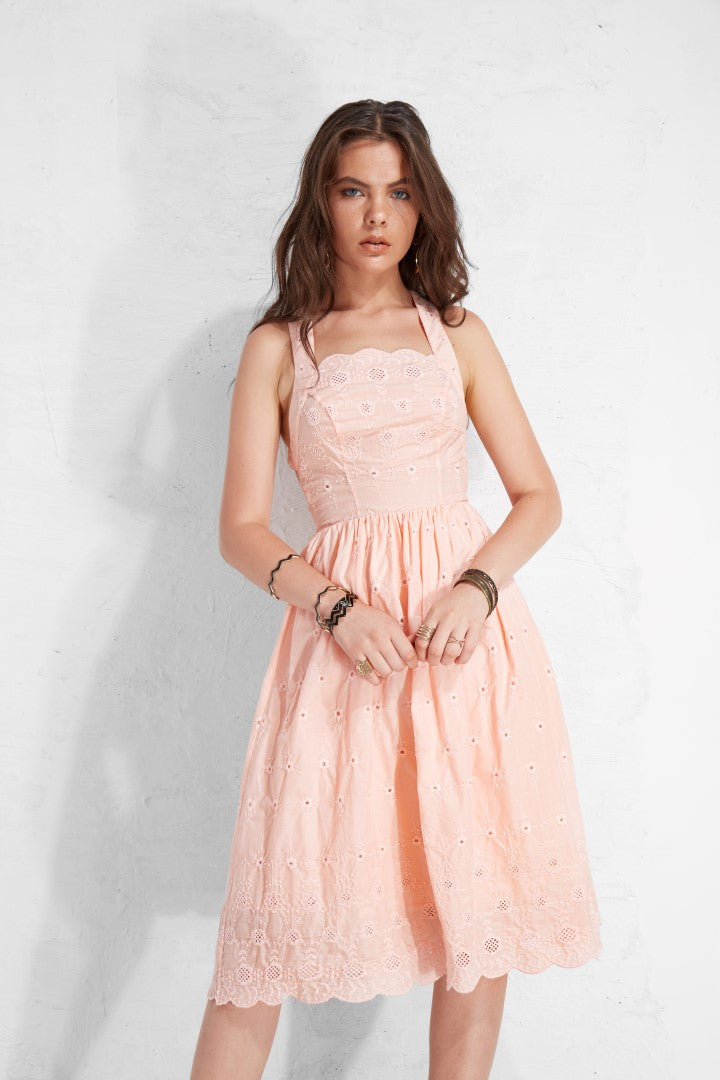 Flower Coton Babydoll  - Pink