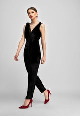 Barege Jumpsuit  - Black