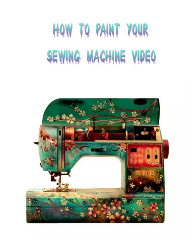 How to paint your sewing machine video